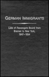 German Immigrants, Bremen to New York book cover